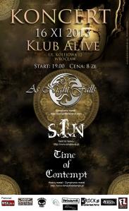 Koncert 16 XI klub Alive